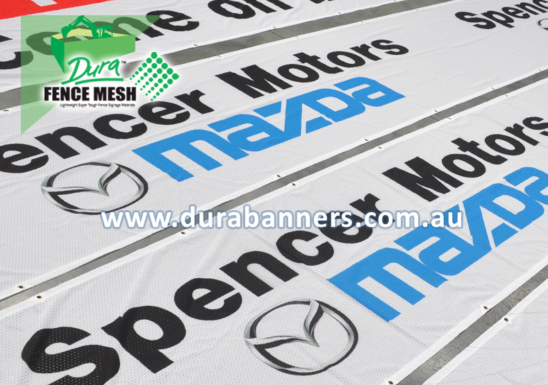 Fence Wrap for Mazda Car Dealer