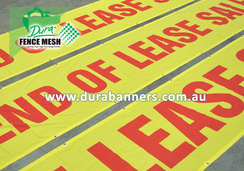 Bright Yellow End Of Lease banner signs