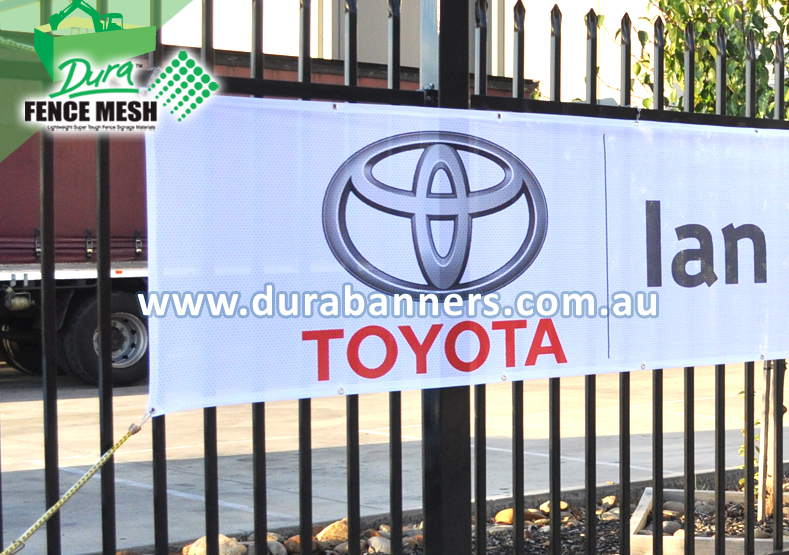 Toyota Banner On A Fence
